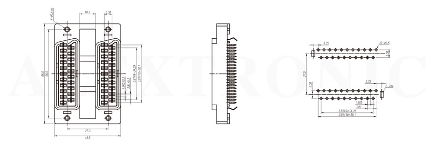 av connector  slim tv  - alextronic