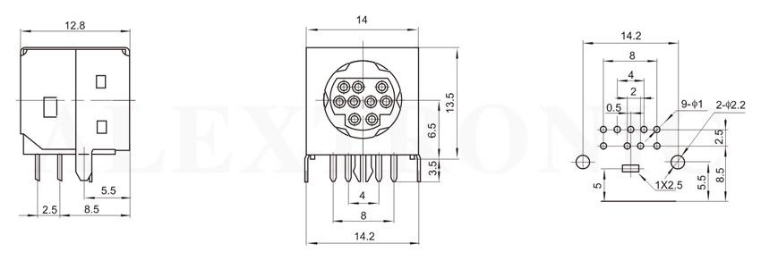 mini din socket - alextronic