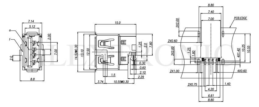 usb socket - alextronic